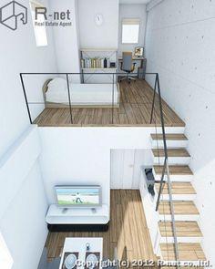 Home Decorating On A Budget Referral: 9786593436 Tiny Loft, Tiny House Loft, Loft Interior Design, Loft Design, Design Design, Apartment Interior, Apartment Design, Loft Spaces, Small Spaces
