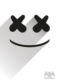 Marshmello - flat design - logo by Rorion Flat Design, Logo Design, Marshmello Wallpapers, Alan Walker, Edm Festival, Models Makeup, Favorite Person, Marshmallows, Wallpaper S