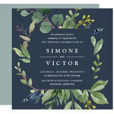 Eucalyptus Grove Wedding Invitation | Square - winter wedding diy marriage customize personalize couple idea individuel