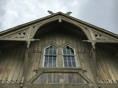 Chicomacomico lifesaving station: Nordic-inspired design, mystic dolphins under the eaves and honking geese above.