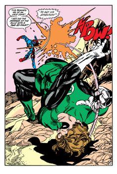 Green Lantern and Atom by Gil Kane