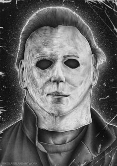 Halloween - The night he lost his pills. Our boogeyman gone crazy. Damn haha Michael workinprogress shots in my story highlights! Horror Posters, Horror Icons, Michael Myers Memes, Michael Meyers Halloween, Horror Movie Tattoos, Halloween Resurrection, Scary Drawings, Deadpool Art, Dark Souls Art