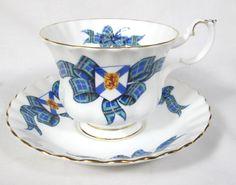 Lovely Royal Albert Nova Scotia Tartan Bone China Cup Saucer Mint | eBay
