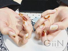 Golden Amber #nail #nailart #nailpolish #naildesign #nailswag #manicure #fashion #beauty #nailstagram #nailsalon #instanails #nails2inspire #love #ネイル #art #gelnail #cute #gelnails #polish #style #gel #naildesigns #instanail #pretty #colourplatter #nailtech #ambernails #painting