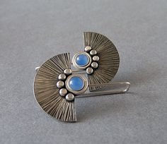 Sterling Silver Earrings with Blue Onyx B3 by Kailajewellery, £42.00