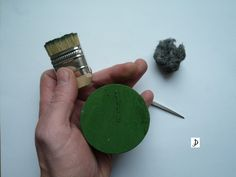 polishing paste with a short hair brush and medium stell wool