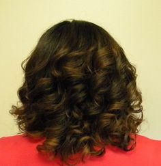 Natural looking ombre color on mid-length hair