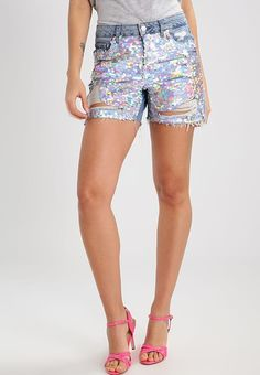 bestil  Topshop ARIEL - Jeans Short / cowboy shorts - middenim til kr 399,00 (04-06-17). Køb hos Zalando og få gratis levering.