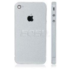 $4.68   Ecell - SILVER GLITTER FULL SKIN STICKER COVER FOR iPHONE 4 4G by Ecell, http://www.amazon.com/dp/B005NYE3QK/ref=cm_sw_r_pi_dp_b-GQqb0QBMCNH