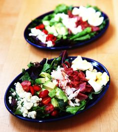 This salad is perfect for any occasion. Dungeness-Crab-Cobb-Salad by @savorysweetlife