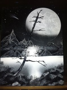 Spray paint art by Todd