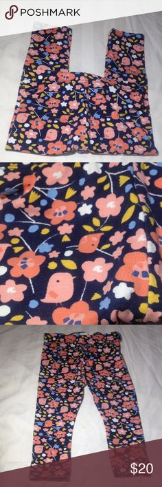 Baby Girl H&M Floral Bird Print Leggings 12-18M Baby Girl H&M Floral Bird Print Leggings 12-18M pink blue yellow white excellent condition 95% cotton 5% elastane cute for baby girl spring summer fall winter H&M Other