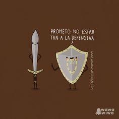 Prometo no estar tan a la defensiva. Great Illustrations by Wawawiwa