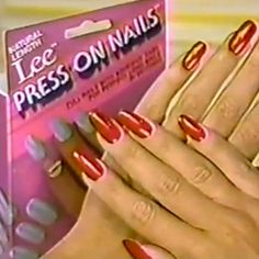 Lee Press-on Nails before acrylics! I was mortified when one started to fall off at homecoming. #80s