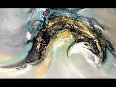 Acrylic Speed Painting      Acrylmalerei: Spachteln und Blüten  Sabine Belz - YouTube