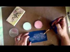 Pan pastels + versamark ink - YouTube