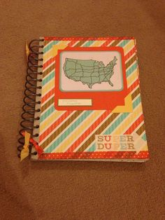 Holiday/ vacation planner using stampin up retro fresh this & that journal, embellishments and project life cards