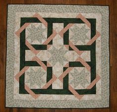 Shabby Chic Quilted Wall Hanging Quilted Table by HollysHutch