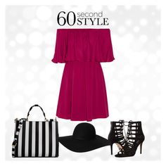 """Untitled #46"" by ayechic on Polyvore featuring Dolce&Gabbana, Alice + Olivia, Michael Kors, Monki, dress, offshoulderdress and 60secondstyle"