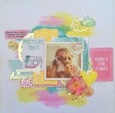 Sassy Scrapper: Here's the Story - Rise And Shine - Amy Tangerine Scrapbooking Layouts, Scrapbook Pages, Paper Art, Paper Crafts, Amy Tan, Crate Paper, Birthday Pictures, American Crafts, Layout Inspiration