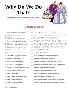 Funny Bridal Shower Mad Libs