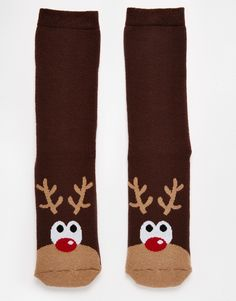 Buy Urban Eccentric Christmas Rudolph Slipper Socks at ASOS. Get the latest trends with ASOS now. Mens Christmas Socks, Holiday Socks, Knitted Slippers, Slipper Socks, Men's Socks, Leggings, Designer Socks, Urban, Eccentric