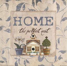 Home Art Print by Jo Moulton Decoupage, Vintage Art, Vintage World Maps, Sweetest Devotion, Paisley Art, Fine Art Prints, Framed Prints, Picture Cards, Vintage Pictures