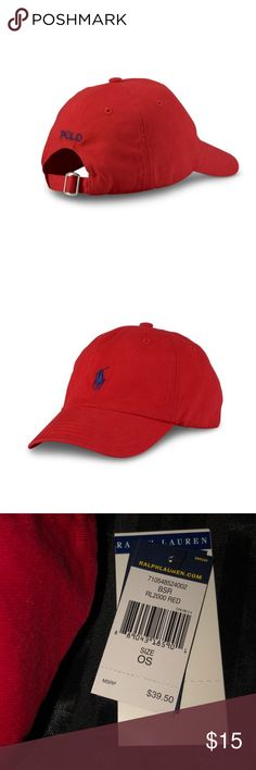 Ralph Lauren Polo Hat; This is for men AND women Red polo hat with dark blue emblem. Ralph Lauren Accessories Hats