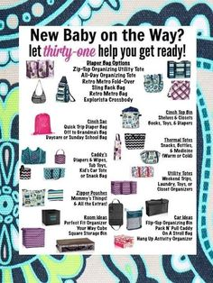 #Baby #gift ideas from Thirty-One gifts. #shower #organize