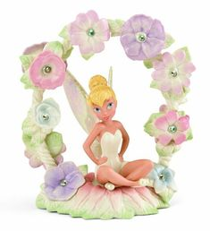 Disney Limited-Edition ''Tinker Bell's Magical Garden'' Tinker Bell Figurine by Lenox Tinkerbell Gifts, Tinkerbell And Friends, Tinkerbell Fairies, Disney Fairies, Disney Figurines, Fairy Figurines, Fairy Statues, Disney Pixar, Disney Characters