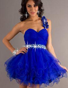 One Shoulder Party Dress, Short One Shoulder Prom Dress #ShopSimple
