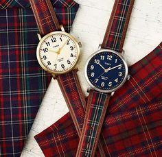 Timex watches with tartan straps. Tartan Decor, Tartan Plaid, Scottish Plaid, Scottish Tartans, Wallace Tartan, Tweed, Style Anglais, Tartan Fashion, Mein Style