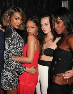 Jourdan Dunn, Rihanna, Cara Delevingne and Naomi Campbell - 09-07-2014 - Attending Jourdan Dunn 'Cell For Gratitude' Charity Event In NYC.