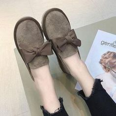 242eaebab7 Women Casual Bowknot Loafers Slip On Shoes Loafer Shoes