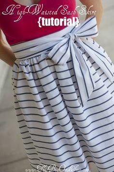 DIY High-Waisted Sash Skirt Tutorial