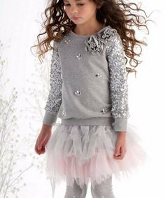 Kate Mack/Biscotti Sporty Sparkle tulle skirt pink and silver
