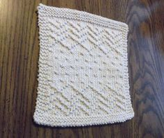 Crazy Seed Dishcloth I knitted
