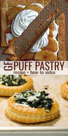 Gluten Free Puff Pastry, Gluten Free Pie, Puff Pastry Recipes, Gluten Free Sweets, Gluten Free Cooking, Dairy Free Recipes, Puff Recipe, Crust Recipe, Gluten Free Scones
