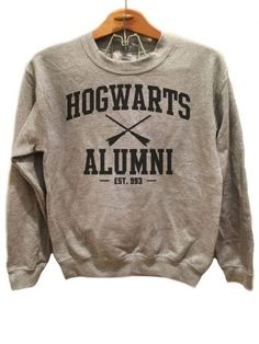 Hogwarts Alumni Simple - Sweater Available sizes for this listing are Small, Medium, Large, Extra Large, All sizes are standard sizes. Crew Neck sweatshirt Image is sublimated onto the c Harry Potter Shirts, Harry Potter Outfits, Harry Potter Sweatshirt, Hogwarts Alumni, Crew Neck Sweatshirt, T Shirt, Direct To Garment Printer, Casual, Just For You