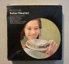 Vintage Action Lab Solar Heater Science Toy Demonstrates Power of the Sun NIB #EdcomSystemsInc