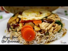 How to make restaurant style magic bowl / bol reversé. Mauritian Recipe - YouTube Mauritian Food, Chicken Stir Fry, Kitchen Witch, Bowl, Restaurant, Family Meals, Fries, Pasta, Mauritius