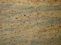 Kashmir Gold Granite Slab for master bath (not exact picture, but similar colors/pattern) Granite Tops, Granite Slab, New Kitchen, Kitchen Ideas, Master Bath, Color Patterns, Kitchen Remodel, Basement, Choices