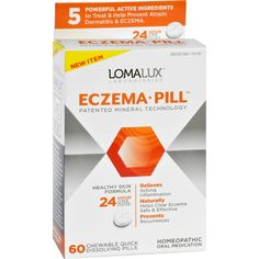 Loma Lux Laboratories Acne Eczema - Chewable - Quick Dissolving - 60 Count