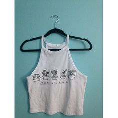 Plants Are Friends Halter Top-Tumblr Tee ($12) via Polyvore featuring tops, grey, halter tops, women's clothing, halter top, halter neck top, halterneck top and tie halter top