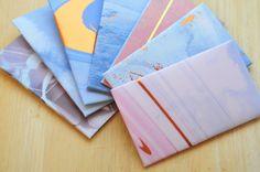 Purple and Blue Gift Card Envelopes, Set of 10, Gift Card Holder, Mini Cards, Business Card Envelope, Pocket Envelope, Keepsake Envelope by whoiamdesign on Etsy