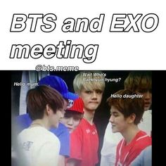 Image result for funny meme kpop bts and exo