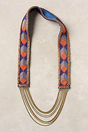 cobalt geometry necklace