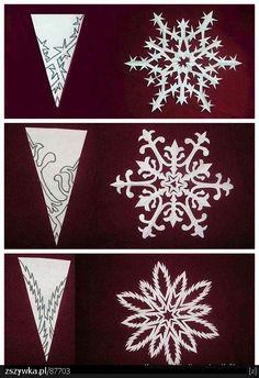 DIY x-mas snowflakes