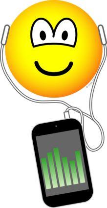 iPod listening emoticon