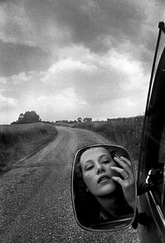 Mauli Hans | road trip | reflection | side mirror | woman | countryside | nature | beauty | www.republicofyou.com.au